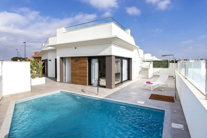Roda Village three bedroom villa with pool